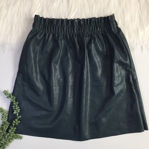 Zara Knit Faux Leather Skirt | Size Large